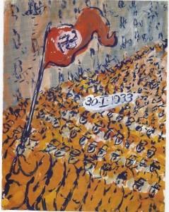 1933年ヒトラー政権獲得を誇示するナチス突撃隊のデモ行進